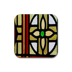 A Detail Of A Stained Glass Window Rubber Square Coaster (4 Pack)