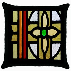 A Detail Of A Stained Glass Window Throw Pillow Case (black)
