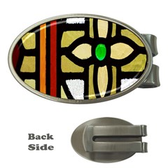 A Detail Of A Stained Glass Window Money Clips (oval)