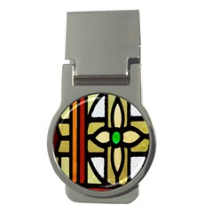 A Detail Of A Stained Glass Window Money Clips (Round)