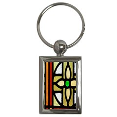 A Detail Of A Stained Glass Window Key Chains (rectangle)
