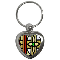 A Detail Of A Stained Glass Window Key Chains (Heart)