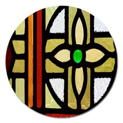 A Detail Of A Stained Glass Window Magnet 5  (round)