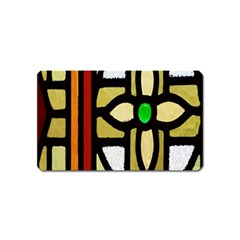 A Detail Of A Stained Glass Window Magnet (name Card)