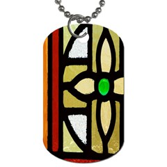 A Detail Of A Stained Glass Window Dog Tag (One Side)