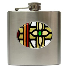 A Detail Of A Stained Glass Window Hip Flask (6 Oz)