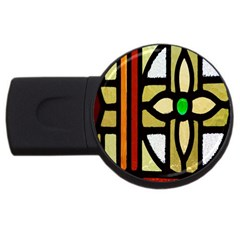 A Detail Of A Stained Glass Window USB Flash Drive Round (1 GB)