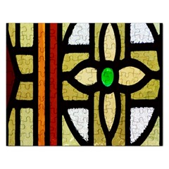A Detail Of A Stained Glass Window Rectangular Jigsaw Puzzl