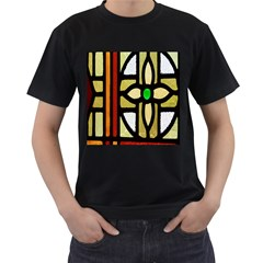 A Detail Of A Stained Glass Window Men s T Shirt (black) (two Sided)
