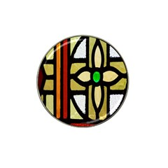 A Detail Of A Stained Glass Window Hat Clip Ball Marker