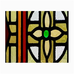 A Detail Of A Stained Glass Window Small Glasses Cloth
