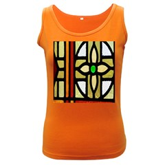 A Detail Of A Stained Glass Window Women s Dark Tank Top