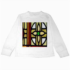 A Detail Of A Stained Glass Window Kids Long Sleeve T Shirts