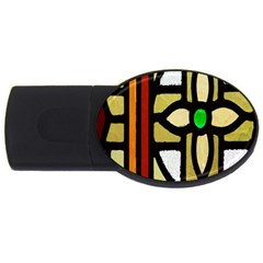 A Detail Of A Stained Glass Window USB Flash Drive Oval (4 GB)