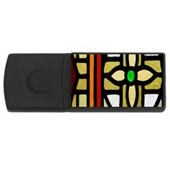 A Detail Of A Stained Glass Window Usb Flash Drive Rectangular (4 Gb)