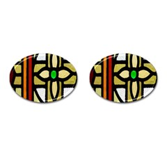 A Detail Of A Stained Glass Window Cufflinks (oval)