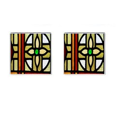 A Detail Of A Stained Glass Window Cufflinks (square)