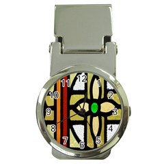 A Detail Of A Stained Glass Window Money Clip Watches