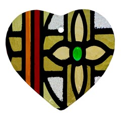 A Detail Of A Stained Glass Window Heart Ornament (two Sides)