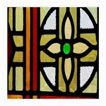 A Detail Of A Stained Glass Window Medium Glasses Cloth Front
