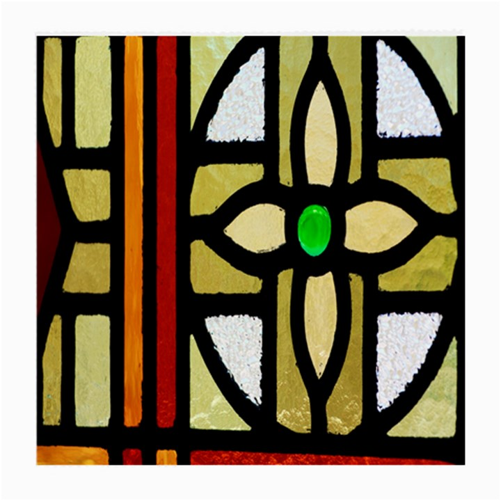 A Detail Of A Stained Glass Window Medium Glasses Cloth