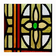 A Detail Of A Stained Glass Window Medium Glasses Cloth (2 Side)
