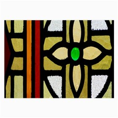 A Detail Of A Stained Glass Window Large Glasses Cloth (2-Side)