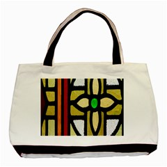 A Detail Of A Stained Glass Window Basic Tote Bag (two Sides)