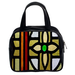 A Detail Of A Stained Glass Window Classic Handbags (2 Sides)