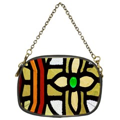 A Detail Of A Stained Glass Window Chain Purses (one Side)