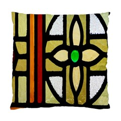 A Detail Of A Stained Glass Window Standard Cushion Case (one Side)