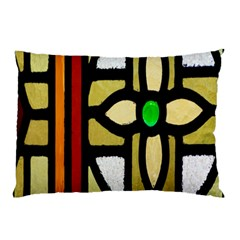 A Detail Of A Stained Glass Window Pillow Case