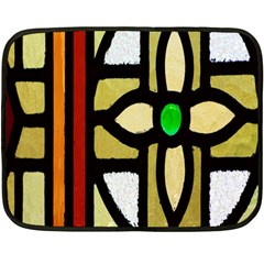 A Detail Of A Stained Glass Window Double Sided Fleece Blanket (mini)