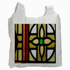 A Detail Of A Stained Glass Window Recycle Bag (two Side)