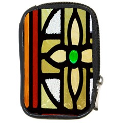 A Detail Of A Stained Glass Window Compact Camera Cases