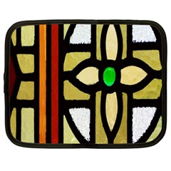 A Detail Of A Stained Glass Window Netbook Case (xxl)