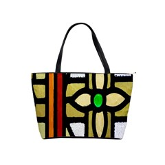 A Detail Of A Stained Glass Window Shoulder Handbags