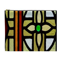 A Detail Of A Stained Glass Window Cosmetic Bag (XL)