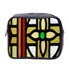 A Detail Of A Stained Glass Window Mini Toiletries Bag 2 Side