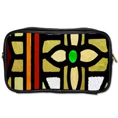 A Detail Of A Stained Glass Window Toiletries Bags