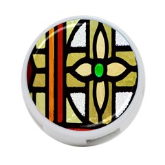 A Detail Of A Stained Glass Window 4-Port USB Hub (One Side)