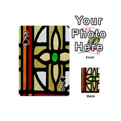 A Detail Of A Stained Glass Window Playing Cards 54 (Mini)