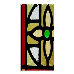 A Detail Of A Stained Glass Window Shower Curtain 36  x 72  (Stall)