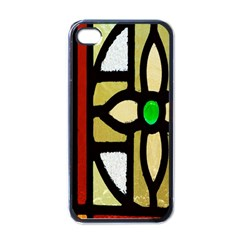 A Detail Of A Stained Glass Window Apple iPhone 4 Case (Black)