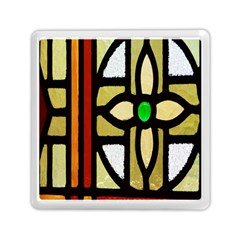 A Detail Of A Stained Glass Window Memory Card Reader (square)