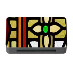 A Detail Of A Stained Glass Window Memory Card Reader with CF