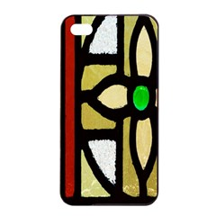 A Detail Of A Stained Glass Window Apple Iphone 4/4s Seamless Case (black)