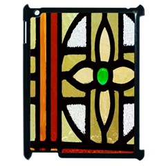 A Detail Of A Stained Glass Window Apple Ipad 2 Case (black)