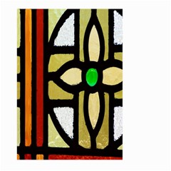 A Detail Of A Stained Glass Window Large Garden Flag (two Sides)
