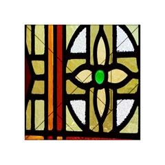 A Detail Of A Stained Glass Window Acrylic Tangram Puzzle (4  X 4 )